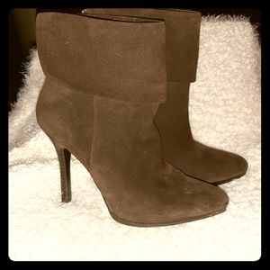 Ralph Lauren Brown split leather ankle boot